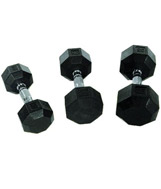 Perform Better Rubber Encased Hex Dumbbells